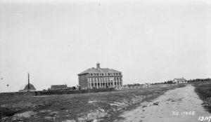Distant view of Norway House Indian Residential School, Norway House, Manitoba, 1927
